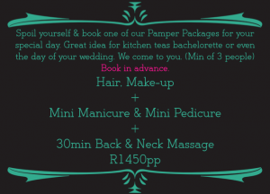 Massage Pamper Package